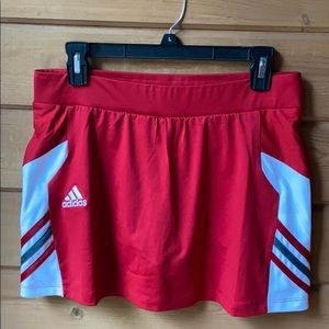 Adidas Climalite Red & White Athletic Skort NWOT